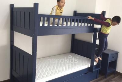 Set Giường 2 tầng Flynn, tủ đầu giường Sophie dành cho bé trai cá tính CC Timecity, Hà Nội.