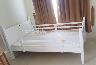 Free lắp đặt giường trẻ em Viking 1m2 cho khách hàng cư ngụ tại cc Hoa Sen, Q11, HCM.