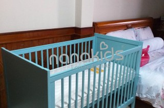 Halley Baby Blue Crib for Baby Child in Tan Son Nhi-Tan Phu District, Ho Chi Minh City
