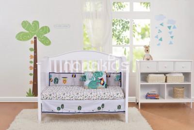 Thiết kế 3 trong 1 vô cùng thông minh với giường cũi gỗ tự nhiên cho bé.