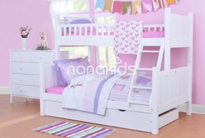 Xuýt xoa với mẫu giường tầng đẹp mắt dành riêng cho phòng ngủ trẻ em.
