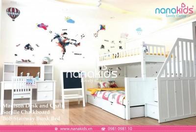 Thiết kế phòng ngủ cực xinh với giường tầng đáng yêu dành cho bé gái.
