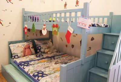 Trải nghiệm tiện ích 4.0 với kiểu giường tầng dễ tháo lắp dành cho bé.