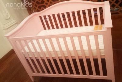 Lắp đặt miễn phí mẫu nôi trẻ em Natalie cho bé gái sắp sinh tại P.Tân Sơn Nhì,Q.Tân Phú.