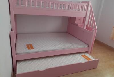 Thích mê với mẫu giường tầng gỗ thông uy tín, chất lượng cho bé.