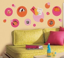 Wallpockets Pink Wall Decal