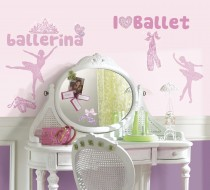 Ballet Peel & Stick Wall Decals Glitter