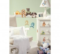 Cuddle Buddies Peel & Stick Wall Decals