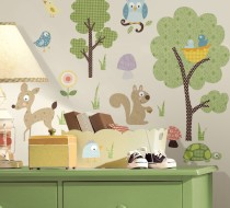 Woodland Animals Peel & Stick Wall Decals