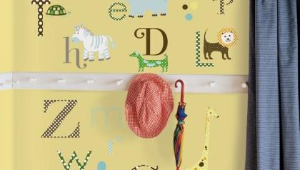 Animal Alphabet Peel & Stick Wall Decals
