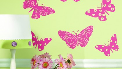 Butterfly Flock Wall Decal