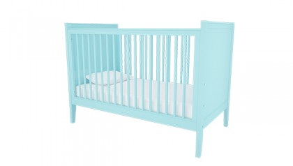 HAILEY CRIB BABY BLUE