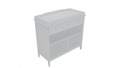 Tủ thay tã Harper Changing Table Gray