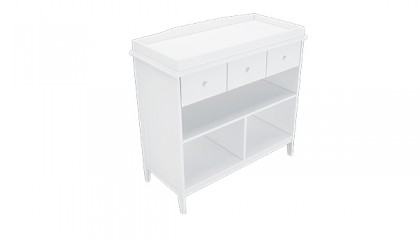 Tủ thay tã Harper Changing Table White