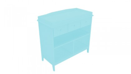 Tủ thay tã Harper Changing Table Baby Blue