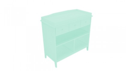 Tủ thay tã Harper Changing Table Mint