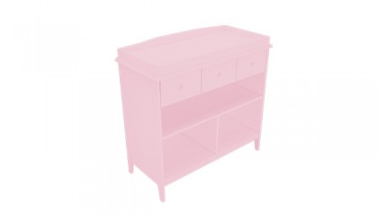 Harper Changing Table Pink