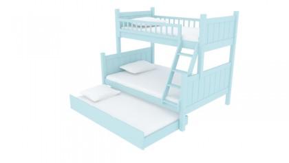 JAYDEN TWIN FULL BUNK BED BABY BLUE