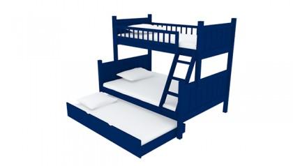 JAYDEN TWIN FULL BUNK BED NAVY