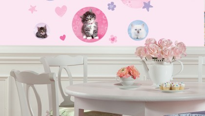 Kitty Dots Peel & Stick Wall Decals