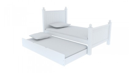 MADISON SINGLE BED 1M4 WHITE