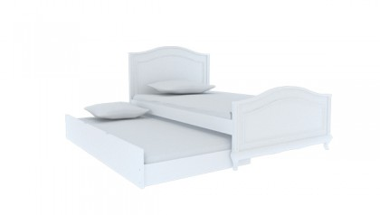 SOPHIE SINGLE BED 1M2 WHITE
