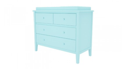 SOPHIE CHANGING DRESSER BABY BLUE