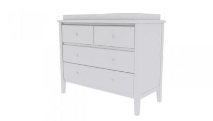 Tủ thay tã Sophie Changing Dresser Gray