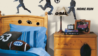 Sports Silhouettes Peel & Stick Wall Decals