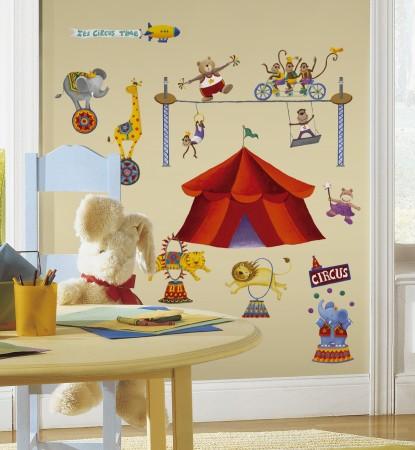 Big Top Circus Peel & Stick Wall Decals