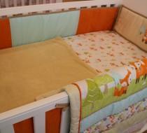 Baby Bedding - Set 5 orange deer