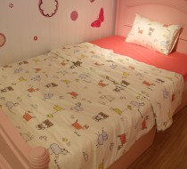 Bedding set pink animals 120cm