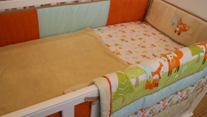 Baby Bedding - Set 5 orange deer