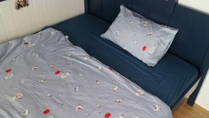 Bedding set navy penguin 140cm