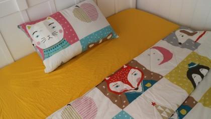 Bedding set yellow fox 140cm