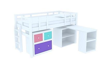 Giường đơn Colin Loft Bed White