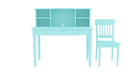 SOPHIE DESK & CHAIR BABY BLUE