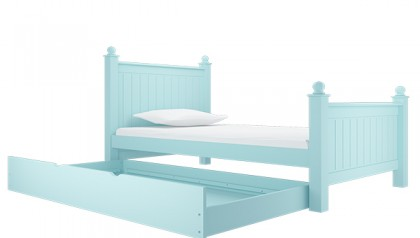 MADISON SINGLE BED 1M4 BABY BLUE